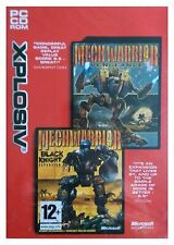 Mechwarrior 4 + Add-On Black Knight Mech Warrior for Computer, Action NEW