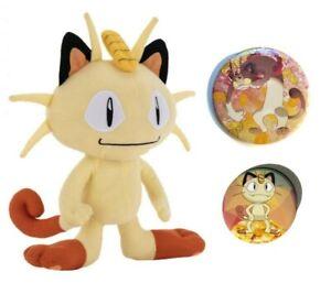 Meowth Plush Toy With Pin Set!