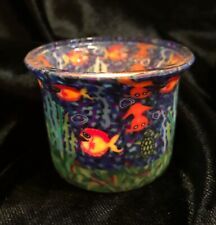 QUIRKY CANDLEHOLDER FIMO GLOWING GLASS  GOLDFISH AMBIENT WATER TURTLE