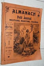 ALMANACH PETIT JOURNAL MILITAIRE MARITIME COLONIAL 1905 INDOCHINE AOF MADAGASCAR