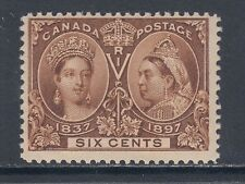 Canada Sc 55 MNH. 1897 6c yellow brown QV Jubilee F-VF