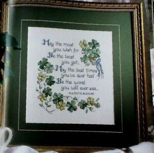 Cross Stitch St Patricks Day IRISH Celtic BLESSING Shamrock Design PATTERN Only
