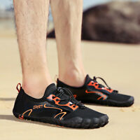 Mens Big Size Barefoot Water Shoes Quick Drying Swimming Diving Beach Aqua Shoes