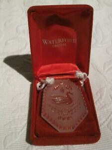 """WATERFORD 1990 CRYSTAL CHRISTMAS ORNAMENT """"12 DAYS OF CHRISTMAS"""" [NEW]"""
