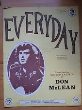 Don McLean - Everyday sheet music