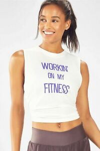 Fabletics Athletic Gina Muscle Tank L 8-10 Workin' On My Fitness Kate Hudson NWT