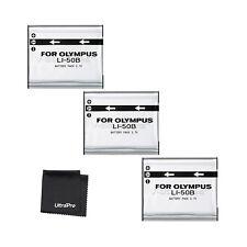 3x LI-50B LI50B Battery + BONUS for Olympus Stylus, MJU, S, Tough, VR, X Cameras