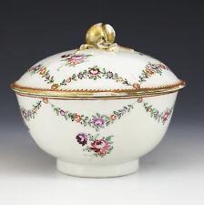 Chinese Export Porcelian Lidded Bowl, 18th Century Armorial Quid Non Pro Patria