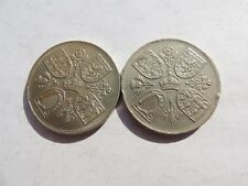 2 X COMMEMORATIVE CROWN COINS  (DATED 1953 & 1960) - REF 286