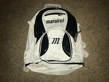 Marucci Black and White Baseball Softball Equipment Bat Bag Travel Backpack