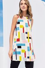 Next Geo Print Multicoloured Pleat Tunic 14Tall