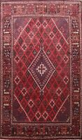 Vintage Traditional Geometric Area Rug Wool Hand-knotted Oriental Carpet 7x10