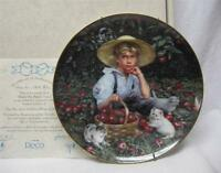 Under the Apple Tree Collectible Plate #5 in Barefoot Children series, box & COA
