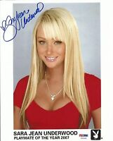 Sara Jean Underwood Signed Playboy 8x10 Photo PSA/DNA COA PMOY 2007 Headshot 1