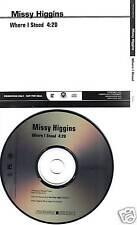 MISSY HIGGINS Where I stood RADIO PROMO DJ CD Single 2008 MINT USA