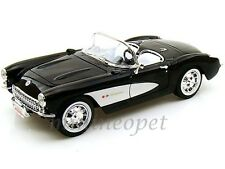 ROAD SIGNATURE 92018 1957 57 CHEVY CORVETTE CONVERTIBLE 1/18 DIECAST BLACK