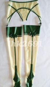 Hot sale Latex Rubber Women Pants Unique Fashion Shorts and Stocking Set S-XXL