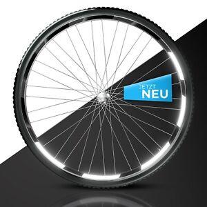 Reflektoren Aufkleber 42 TLG. Set passend für eine Fahrrad Felge in schwarz