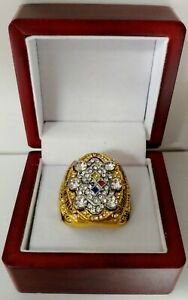 Ben Roethlisburger - 2008 Pittsburgh Steelers Super Bowl Gold Color Ring W Box