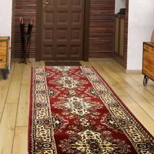 Läufer Teppich Teppichläufer Klassisch Orientalisch Flur Rot Creme 4 Breiten