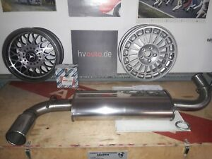 V2A Sports Exhaust Muffler Rear Silencer Lancia Delta Integral Evo New
