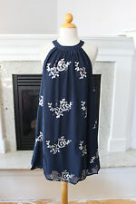 B SHARP NWT Great Looking Navy Blue Sleeveless Silver Sequins Cocktail Dress S