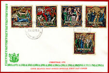 Cook Islands 1970 Christmas, ART, painting, FDC, SG 337-341, Mi 256-260
