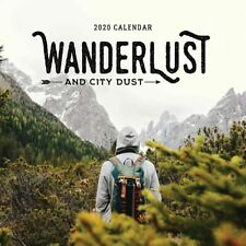 2020 Wanderlust and City Dust Square Wall Calendar 30x30cm Paper Pocket