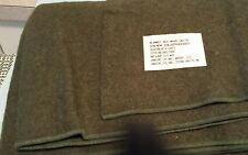 "NEW U.S Army Issue Wool Blanket 66"" x84"""