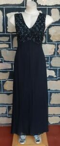1960's Evening Gown, Black, Princess Line, Sequinned Bodice, Viscose By 'No !...