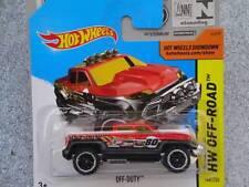 Hot Wheels 2014 # 140/250 Fuera de servicio rojo sobre negro HW todoterreno LOTE