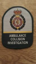 Ambulance Collision Service UK NHS 3 Inch Vel Hook Backed Woven Patch Badge