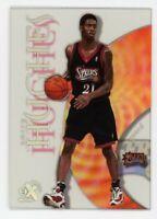 1998-99 EX Century LARRY HUGHES Rookie Card RC #90 Philadelphia 76ers Skybox E-X