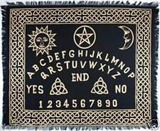 "OUIJA CEREMONIAL ALTAR CLOTH GOLD BLACK 24"" x 30"" TAROT PSYCHIC PAGAN WICCA CAT"