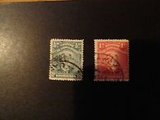RHODESIA  - 2 STAMPS  - 119 &  120 USED - BRITISH SOUTH AFRICA