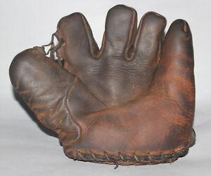 Antique Vintage 1930's Goldsmith tunnel loop split finger baseball glove