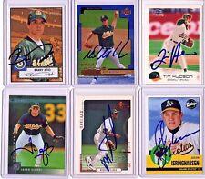 Oakland Athletics Auto Card Lot of 6 - Giambi - Tejada - Hudson - Mulder - Zito