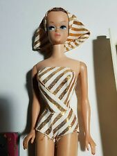 Barbie Fashion Queen #870 1960's Doll in Repo Outfit with Head Scarf and Wig