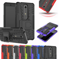 For NOKIA 6.1 2018 MAXCASE Heavy Duty Tyre Tough Stand Phone Case Cover