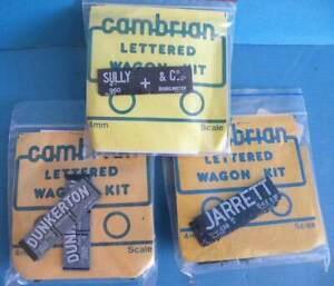 3 Cambrian Plastic 4mm Oo Gauge Wagon Kits - PO 7 Plank Open Coal Wagons
