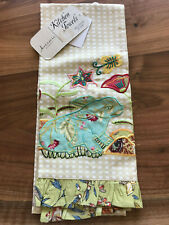 Artistic Accents Bunny Gingham Kithen Dish Towel NWT