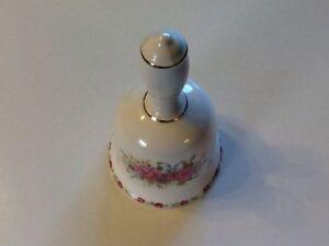 """Vintage  6"""" Sadler England Bell With Rose Design"""