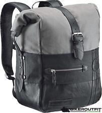 HELD Motorrad Rucksack CANVAS Backpack schwarz-grau 20 Liter Biker Trägersystem