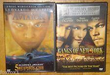 Leonardo DiCaprio The Aviator & Gangs of New York 2 DVD Martin Scorsese Set