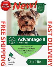 Advantage Ii Small Dog Flea Treatment & Flea Prevention - 6 Pack, for 3-10 lbs