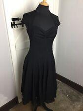 Karen Millen Black Wool Blend Fifties Style Dress. Size 10UK. Ex Condition