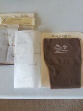 Two Pairs Thigh High Nylons Sz. 11-12 Extra Long Old Store Stock Clingalon Hose