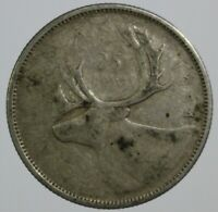 1954 Canada quarter - this 25 cent coin is 80% silver