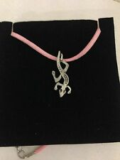 Gecko R22 Pewter Pendant on a PINK CORD Necklace