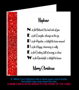 'Nephew Poem' Birthday Card, Christmas Card, Amazing Cousin, Special Cousin